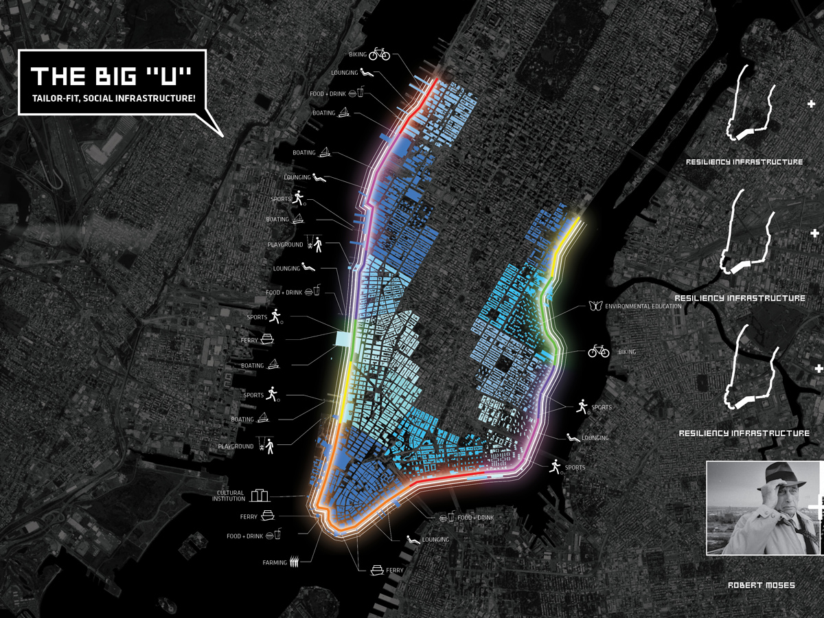 big u east river cyclists map