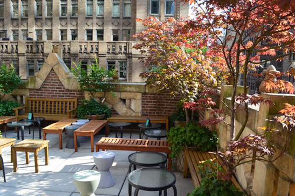 murray hill best rooftop bars bookmark lounge library hotel