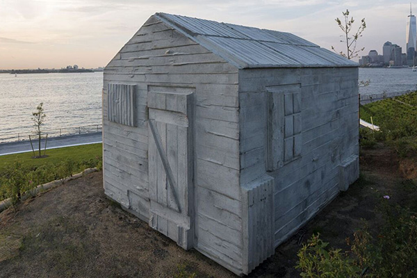 waterfront artworks rachel whiteread cabin detail