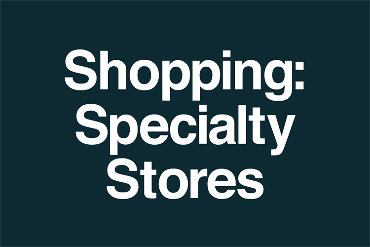 Shopping Specialty