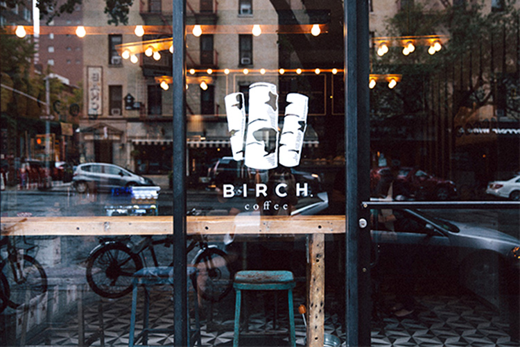 Birch Coffee shop storefront