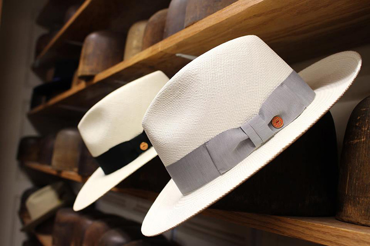 white fadora J.J. Hat Center