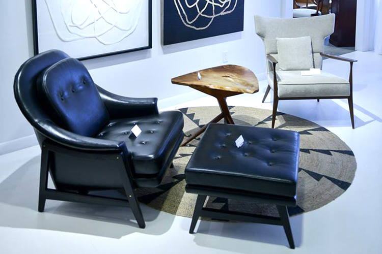 black chair and ottoman New York Design Center