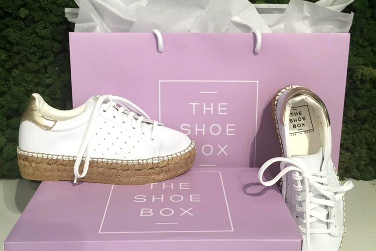 The Shoebox bag and white shoes
